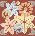 autumn pattern with decorative flowers vector image vector image