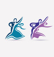 ballroom couple dance symbols collection stylized vector image