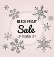 black friday sale banner design winter theme vector image