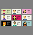business cards with people portraits for your vector image vector image