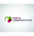 Chat and communication logo design vector image vector image