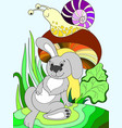 childrens color cartoon animal friends in nature vector image