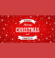 christmas red background merry christmas and vector image