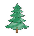 christmas tree pine ornament cartoon icon vector image vector image