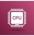Circuit board icon Technology scheme square vector image
