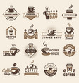 coffee badges kitchen logo for hot drinks fresh vector image