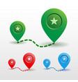 color map pin location icon vector image vector image