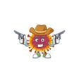 cool cowboy spreading coronavirus holding guns vector image vector image