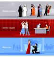 Couples People Flat Banners vector image vector image