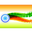 creative indian flag design made in wave style vector image vector image
