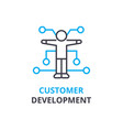 customer development concept outline icon vector image vector image