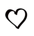 cute decorative heart icon graphic vector image vector image