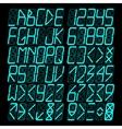 Digital blue Alphabet vector image vector image