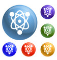 eco atom icons set vector image
