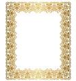 elegant gold frame vector image vector image