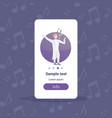 elegant man opera singer in white suit singing vector image vector image