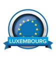EU flag button with Luxembourg ribbon vector image vector image