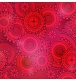 Fashionable red and pink gearwheels technology vector image