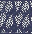 fern leaves hand drawn seamless pattern vector image vector image