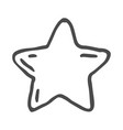 freehand drawn cartoon decorative stars doodle vector image vector image