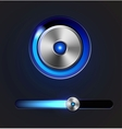 Glossy media player button and track bar vector image