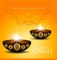 happy diwali festival light background vector image vector image