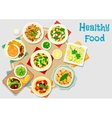 Hearty meal icon for dinner menu design vector image vector image