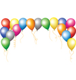 holiday border of colorful balloons vector image vector image