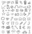 icon doodles vector image vector image