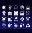 insomnia white silhouette icons set