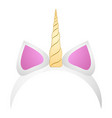isolated unicorn headband vector image