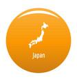 japan map in black simple vector image