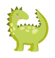kids toys dinosaur animal cartoon isolated icon vector image