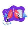 lung health diagnosis concept vector image