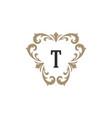 luxury monogram logo template object vector image vector image