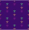 mardi gras carnival seamless pattern with fleur-de vector image