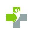 medical design logo concept icon vector image vector image