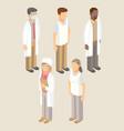 medical workers set men and women vector image