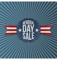 Memorial Day Sale greeting Emblem with Ribbon vector image vector image