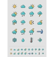 Meteorology Weather icons set vector image vector image
