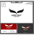 minimalist eagle logo black and white concept vector image
