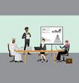 multicultural business team - presentation vector image vector image