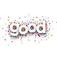 Paper good confetti sign vector image vector image