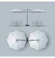 Patio Double Outdoor Cafe Bar Restaurant Parasol vector image vector image