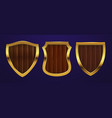 realistic shields medieval shields vector image vector image