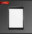 realistic tablet pc computer vector image vector image