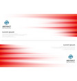 red abstract horizonal lines background vector image vector image