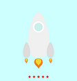 rocket set it is color icon vector image
