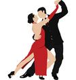 salsa dancing vector image vector image