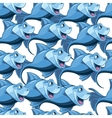 seamless pattern with blue fish in sea vector image vector image